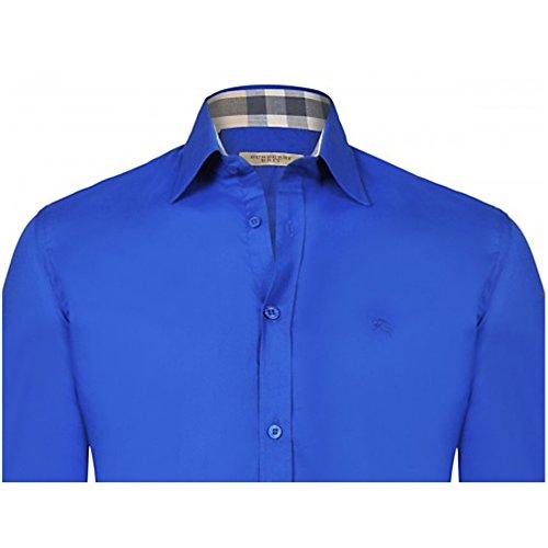 Burberry Herren Poloshirt, einfarbig blau blau Medium