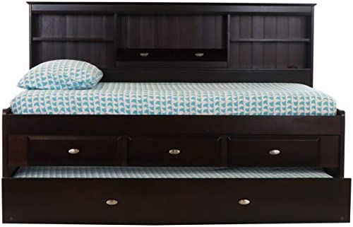 picture of Discovery World Furniture Twin Bookcase Daybed - 3 Drawers and