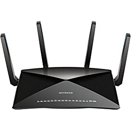 NETGEAR Nighthawk X10 - AD7200 802.11ac/ad Quad-Stream MU-MIMO WiFi Router with 1.7GHz Quad-core Processor & Plex Media Server (R9000) and Seagate Expansion 1TB Portable External Hard Drive USB 3.0 (STEA1000400) 74 802.11ac Quad Stream Wave2 WiFi plus 802.11ad WiFi-Up to 4600+1733+800 Mbps wireless speed 60GHz 802.11ad WiFi - Fastest WiFi technology for instant downloads and backup Plex Media Server - Use Plex to serve all your media from your external USB drive connected to your Nighthawk X10 router.