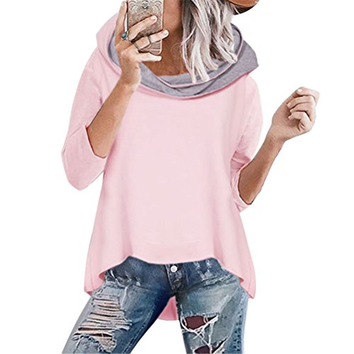 Women Fashion Casual Hooded Long Sleeve Solid Pullover Hoodie - 7
