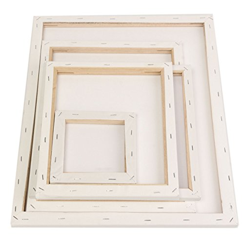 Photo Frame & Accessories - White Blank Square Canvas Painting Drawing Board Wooden Frame For Art Artist Oil Acrylic Paints - Canvas Frame 12x16 Stretcher Bars Blank - 12 X 16 For - 1PCs (Canvas Art Gift Card)
