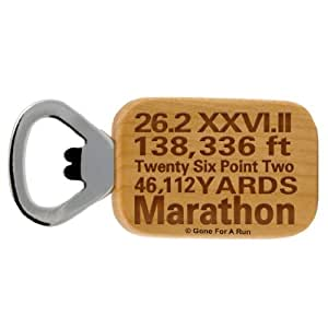 Gone For a Run 26.2 Math Miles Maple Bottle Opener
