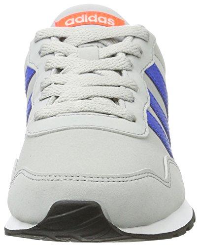 Adidas V Jog K AW4147 Kinderschuhe Grau-Blau-Orangefarbig
