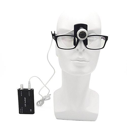 Primo dentale chirurgico proiettori pratica clip tipo LED faro adatto per tutti i medici occhialini nero First Dental