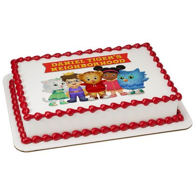 Whimsical Practicality Daniel Tiger Edible Icing Image Cake Topper, Blue, 1/4 Sheet]()