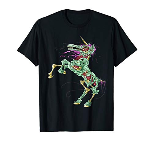 Zombicorn Zombie Unicorn Scary Funny Cute Halloween Shirt
