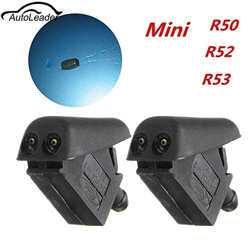 Wipers 2Pcs New Front Water Washer Jet Spray Windscreen Water Cooper S One For BMW MINI R50 R52 and R53 Black Windshield Wipers