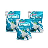 Lotte Anytime Sugar-free hub Xylitol Milk Mint candy 74g x 3 (pack of 3)