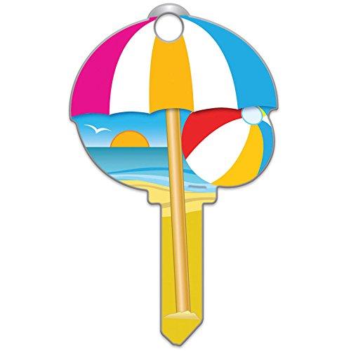 Lucky Line Key Shapes, BEACH House Key Blank, WR5, 1 Key (B113W) (Key One Blank)