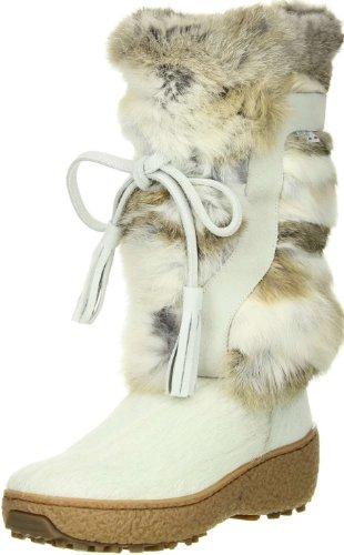 Oscar Sport Boots Signore Della Pelliccia Stivali Da Neve Bianchi Bianco