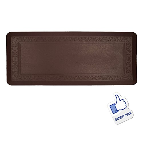Grand Era Anti-Fatigue Comfort Mat- 24 in by 60 in- Multi Surface All-Purpose Luxurious Comfort - for Kitchen, Bathroom or Workstations, Coffee by GRAND ERA