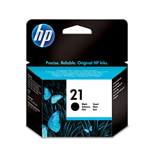 HP 21 Black Ink Cartridge (C9351AN) for HP Business Inkjet 1000 1100 1200 2300 2600 2800 HP DesignJet 100 110 HP OfficeJet 9110 9120 9130 OfficeJet Pro K850 HP Color Inkjet cp1700 (Printer Inkjet 1100)