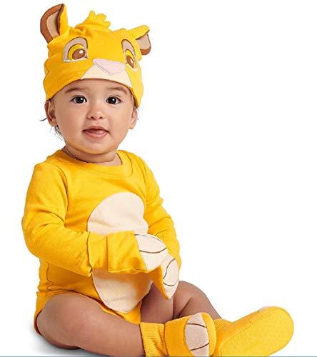 Disney Authentic Lion King Simba Baby Bodysuit Costume 3 6 9 12 Months