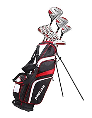 "15 Piece Ladies Womens Complete Golf Clubs Set Titanium Driver, S.S. Fairway, S.S. Hybrid, S.S. 6-PW Irons, Sand Wedge, Putter, Stand Bag, 3 H/C's Petite Size for Ladies 5'3"" and Below - Right Hand"