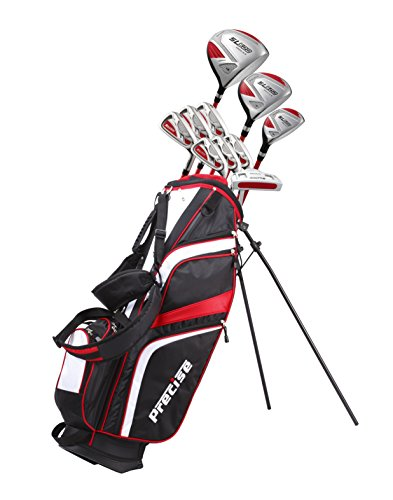 15 Piece Ladies Womens Complete Golf Clubs Set Titanium Driver, S.S. Fairway, S.S. Hybrid, S.S. 6-PW Irons, Sand Wedge, Putter, Stand Bag, 3 H/C's Petite Size for Ladies 5'3
