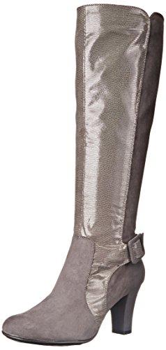 A2 by Aerosoles Women's Money Role Western Boot,Grey Lizard,5.5 M US
