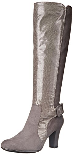 A2 by Aerosoles Womens Money Role Boot Grey Lizard KRGTgJlh