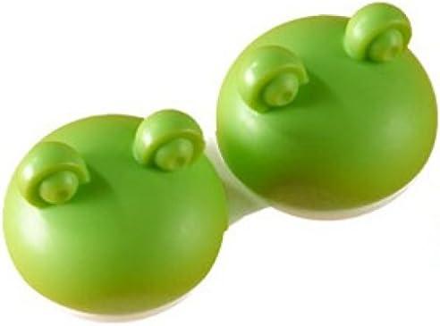En estuche para lentillas de rana-diseño,