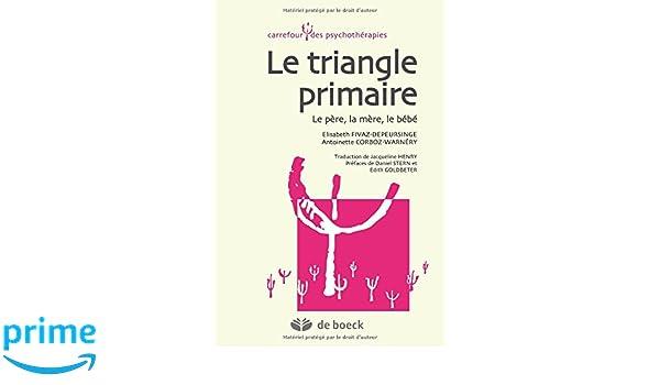Le triangle primaire : Le père, la mère, le bébé Carrefour des psychothérapies: Amazon.es: Elisabeth Fivaz-Depeursinge, Antoinette Corboz-Warnery, ...