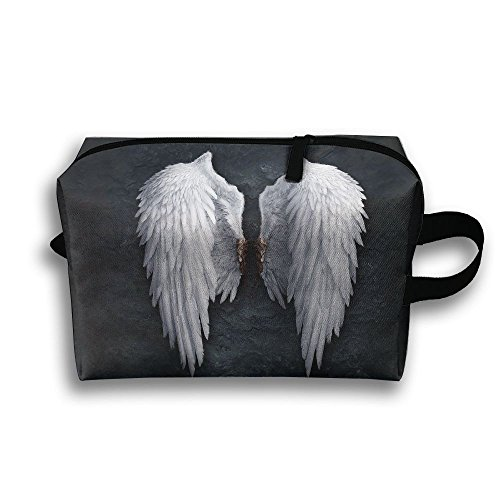 Angel Wing Cosmetic Bags Makeup Organizer Bag Pouch Zipper Purse Handbag Clutch Bag