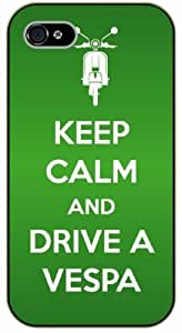 iPhone 5 / 5s Keep calm and drive a vespa - black plastic case / Keep calm, funny, quotes