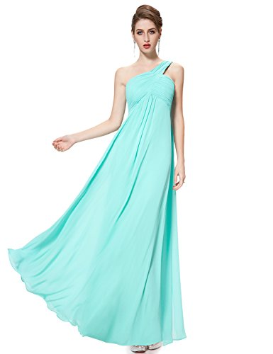 Ever-Pretty Womens Floor Length Ruched Bust Long Bridesmaid Dress 8 US Light Blue