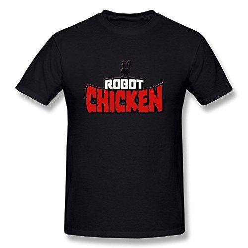FEDNS Men's Robot Chicken Logo T Shirt L