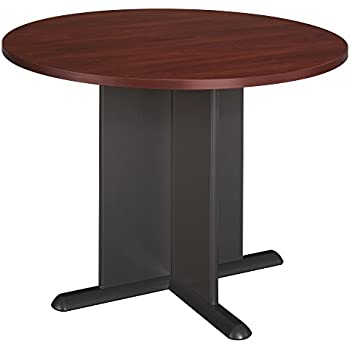 Exceptional Bush Business Furniture 42 Inch Round Conference Table In Hansen Cherry