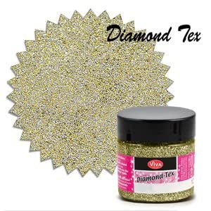 VIVA Decor Diamond-Tex 908 - Pintura textil con purpurina (50ml), color dorado