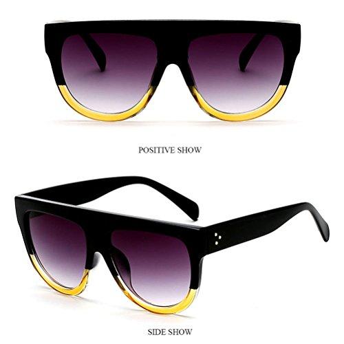 Visuelles yellow Hommes de Soleil Mode Lentilles pour éblouissement Des Conduite Lunettes with Womens Anti HD Sunglasses Femmes Zhhlinyuan Mens Chaînes Des Lunettes Chain Pour nwq7Zgg06