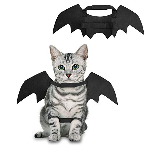 Pet Christmas Costume Apparel Bat Wings Cool Batman Design Party Clothes for Cat Small Dog -