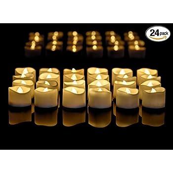 Amazon Com Flickering Flameless Candles 12 Romantic