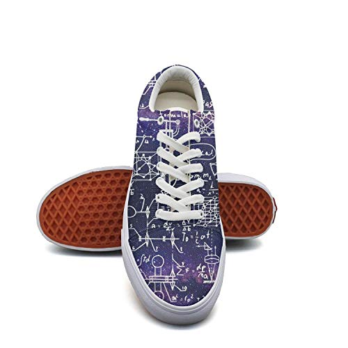 fvnoui LadyPurple Galaxy Physical Math Equations Canvas Shoes Low-Cut Straps Fashion Comfortable Sneakers Suitable for -