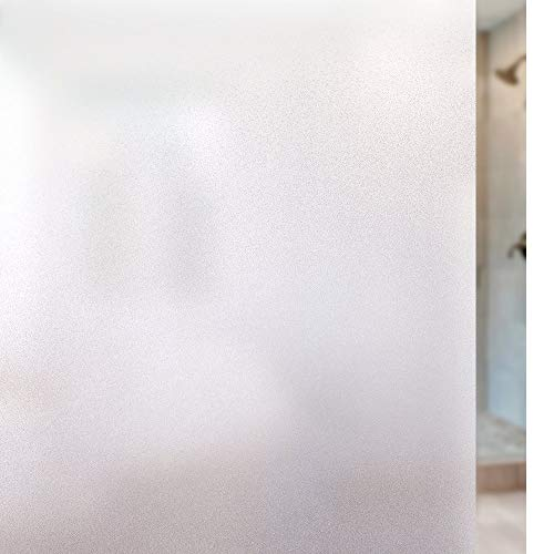 Rabbitgoo Privacy Window Film Frosted Film No Glue Anti-UV Window Sticker White Frosted Window Cling Non-Adhesive for Privacy Office Meeting Room Bathroom Bedroom Living Room 35.4 x 78.7 inches