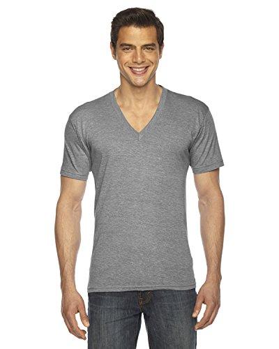 American Apparel Triblend Short-Sleeve V-Neck T-Shirt (TR461W) -Athletic G -L