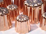 1.5 inch Copper Canele mold from Bordeaux a Set of