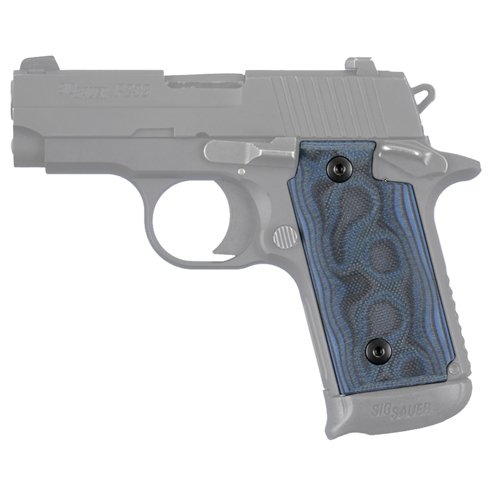 Hogue Sig P238 Grips (G-10 G-Mascus), Blue Lava for sale  Delivered anywhere in USA