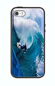 Case Cover Design Surfing Sport Extreme SU05 for Iphone 6 Border Rubber Silicone Case Black@pattayamart