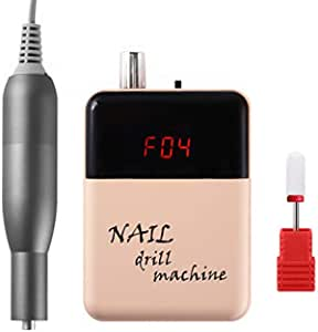 Lumcrissy Electric Portable Nail Drill,Nail File Machine For Acrylic Nails, Manicure Pedicure Kit Handpiece Grinder for Acrylic Gel Nails For Beginners & Professional Use With Cemeric bit (Green)