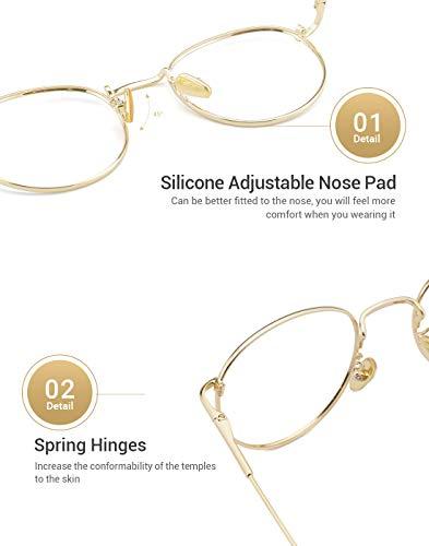36a003738d33 TIJN Women Metal Circle Eyeglasses Fashion Full Rim Round Thin Artist Frame -Henk
