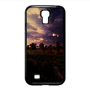 Dark Storm Clouds Watercolor style Cover Samsung Galaxy S4 I9500 Case (Landscape Watercolor style Cover Samsung Galaxy S4 I9500 Case)