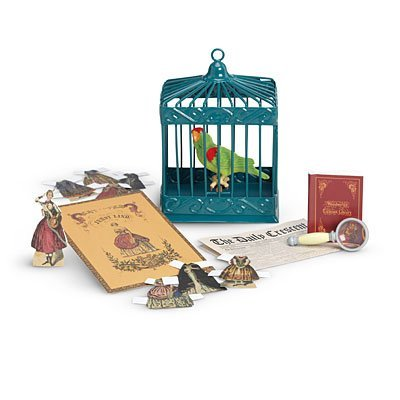 American Girl Cecile's Parrot & Games for Doll