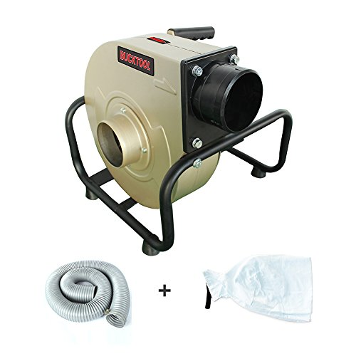 BUCKTOOL 1HP Wall-mount Dust Collector Industrial Home Portable 13 Gal with 2 Micron Dust Bag 1 Phase Dust Collector