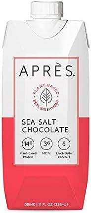 Après Plant-Based Protein Shake (Sea Salt Chocolate, 11 Fl Oz, 12 Bottles) with MCTs & Electrolytes, Vegan, Non-GMO, Dairy-F