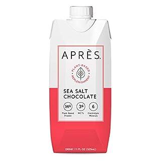 Après Plant-Based Protein Drink Sea Salt Chocolate with MCTs & Electrolytes, Vegan, Non-GMO, Dairy-Free, Gluten-Free, Soy-Free Shake 11 Fl Oz, 12 Bottles