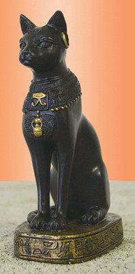 Small Egyptian Bast the Cat Goddess Figurine