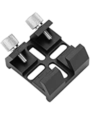 Aluminium Alloy Dovetail Base for Finder Scope,Strong and Durable Telescope Finderscope Mount,Dovetail Slot Plate Groove Screw Accessory,CNC Machining