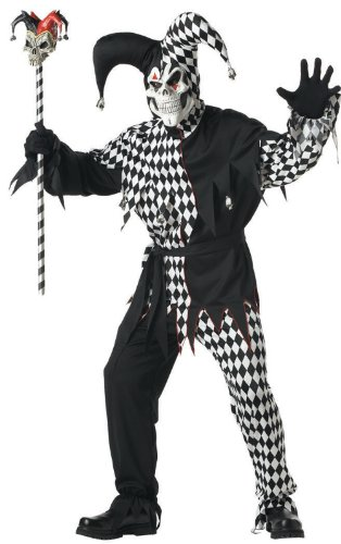 Evil Jester Adult Costume - Small ()