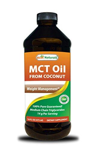 Best Naturals MCT Oil from Coconut 16 fl oz 473 (Best Naturals Coconut Oils)