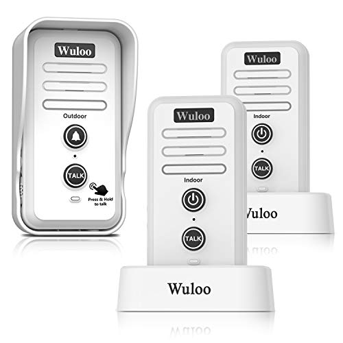 Wireless Intercom Doorbell Chime for Home Intercomunicador (1T2 White) ...